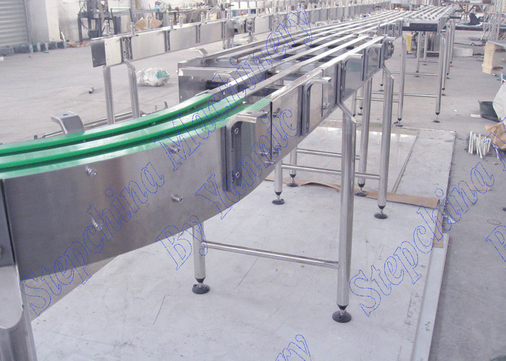 Stable Bottle Conveyor Systems For Beverage Filling Line , Engineering Plastic Belt